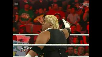 Rikishi vs Heath Slater [ Wwe Raw; 16.7.12 ]
