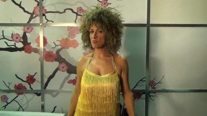 Невена Бозукова като Tina Turner - зад кадър в Като две капки вода - 24.03.2014 г.