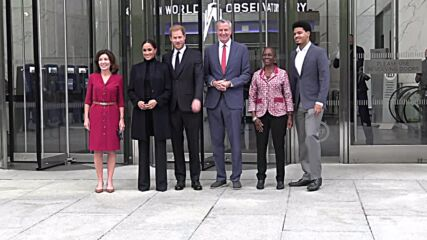 USA: Prince Harry and Meghan Markle visit One World Observatory and Ground Zero in NYC