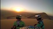 Щуро спускане с колелета по пясъчните дюни на Намибия • Gopro