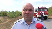 Цистерна с гориво се преобърна на пътя Казанлък - Стара Загора