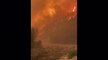USA: Dixie Fire scorches forestland along Highway 89 in California