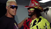 """Macho Man"" Randy Savage sings the praises of Sting in rare backstage look at WCW: Sting: The Lost Tape sneak peek"