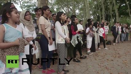 САЩ: Семейството на Мухамед Алан поведе марш на годишнината от
