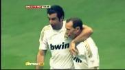 Феноменален гол на Луиш Фиго срещу Манчестър Юнайтед - мач на звездите