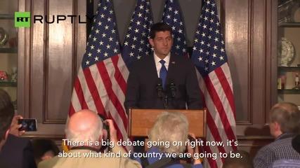 'End of Story' - House Speaker Paul Ryan Will Not Run for President