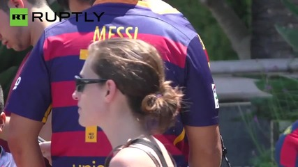 FC Barcelona Players Arrive at L.A. Ritz Carlton for US Tour