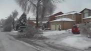 Природна стихия сковава град в ледената си прегръдка !
