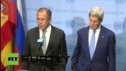 ОН: Лавров и Кери обявяват плановете си за военна среща относно Сирия