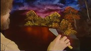 S02 Радостта на живописта с Bob Ross E06 - тъмен поток ღобучение в рисуване, живописღ