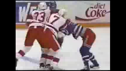 Three Hockey Fights
