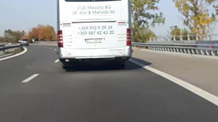 Автобус с превишена скорост