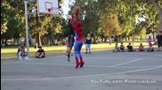 Да играеш баскетбол със Спайдърмен не било лесна работа!