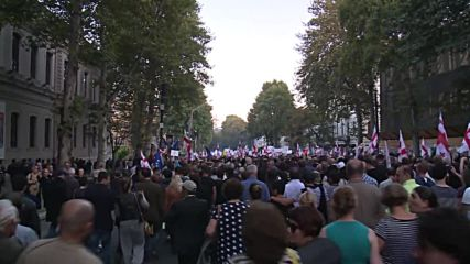 Georgia: 20,000 rally in Tbilisi in support of ex-President Saakashvili