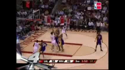 Kobe Bryant Block On Yao Ming