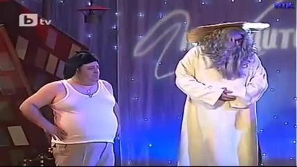 Сашето и Ванката при св. Петър - Комиците