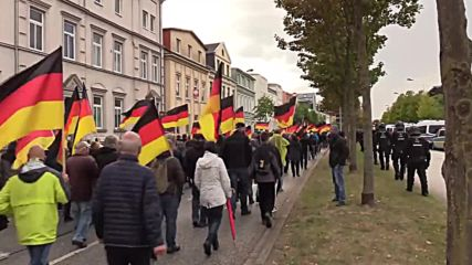 Germany: AfD march met by counter-protest in Rostock