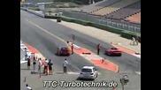 Vw Golf R32 Twin Turbo Къса !! Ferrari