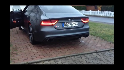 Шум от Audi Rs7