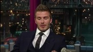 David Beckham - Interview On David Letterman Part 1 of 2