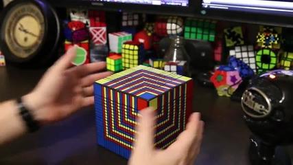 Подреждане на най-голямото кубче на Рубик за 7 часа