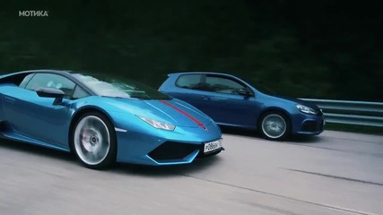 Test Drive - 700 Hp Vw Golf R Hgp срещу Lamborghini Huracan