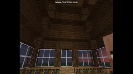 Minecraft Малка Къща Обзаведена