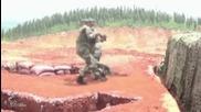 Войник изпуска гранатата по време на учение !
