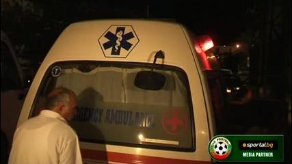Иванков се качва в линейка след мача с Кипър
