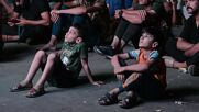 Iraq: Election protesters pause demonstration to watch Real Vs Barcelona in Baghdad