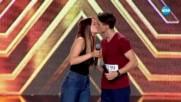 """Влюбените """"гълъбчета"""" Виктория и Марио - X Factor кастинг (24.09.2017)"""