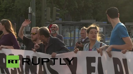 Spain: Hundreds join 'Euromarch 2015' in Madrid to protest inequality