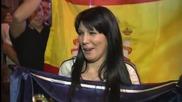 Радостта на феновете на Реал на площад Сибелес