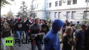 Ukraine: Nationalists demonstrate for those arrested for killing journalist Oles Buzina