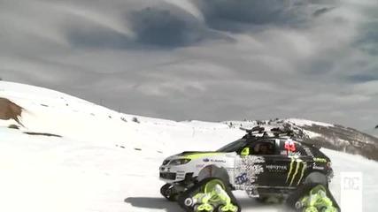 Ken Block на снега със Subaru Impreza