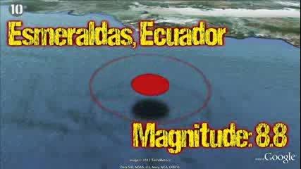 10-те най-големи Записани Земетресенията