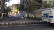 Turkey: Police fire tear gas, water cannon at Kurdish protesters in Diyarbakir