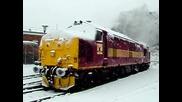 локомотив пали през зимата
