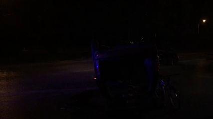 """Кола се обърна на столичния булевард """"Гешов"""""""