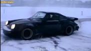 Porsche 930 3.0 Turbo в снега