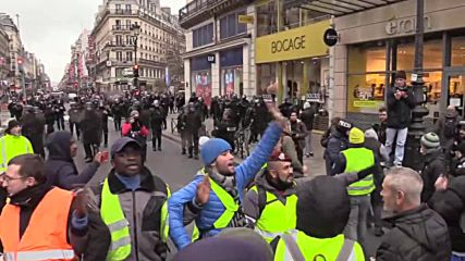 France: Thousands march through Paris in 9th week of 'Yellow Vest' protests