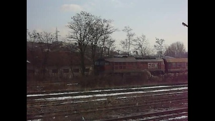 07 123 пристига на гара Панагюрище