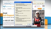 Internet Explorer® 8: How to access Webmail by deleting browsing history on Windows® Xp?