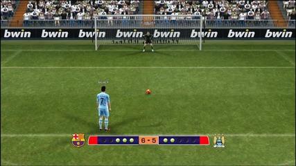 Pes 2012 - Барселона : Манчестър Сити - дузпи
