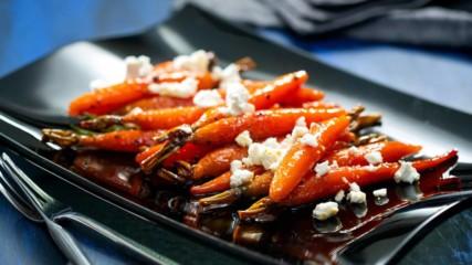 Бон Апети | Глазирани моркови с козе сирене