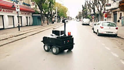 Tunisia: P-Guard robots patrol streets during coronavirus lockdown