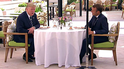France: Trump and Macron talk climate crisis and economic approaches at pre-G7 lunch