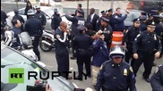 USA: Police MANHANDLE protesters during NYC anti-police brutality demo