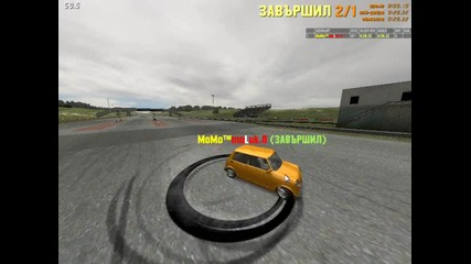 Momo maluk present : burnout of the tire to burst with mini couper ( F U N N Y ) ! !