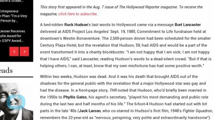 30 Years Ago, Rock Hudson Revealed He Had AIDS